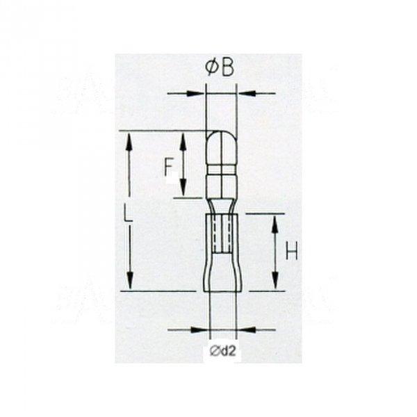 KMOB4 Konektor okrągły  izol. męski 4mm 100szt