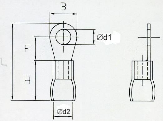 OKB3 Końcówka oczkowa izol. M3 100szt