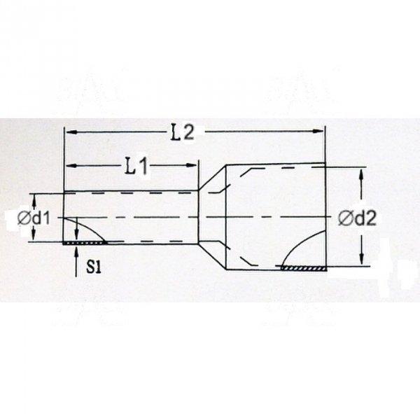 KR015010 BK Tulejka izolow. 1,5mm2x10   100szt