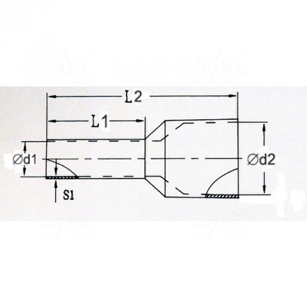 KR100018  Tulejka izolow. 10,0mm2x18      100szt