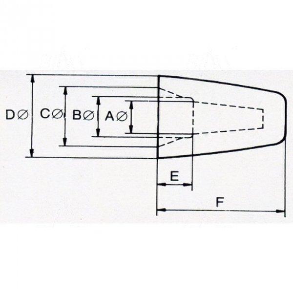 ZKN-7 złączka nakręcana  śr. 7mm  100szt