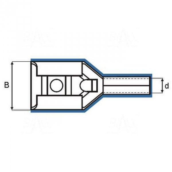 ZKF-5mm2-6.3BK  Konekt. żeński złocony, czarna osłonka