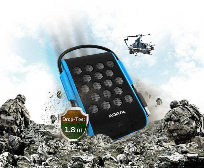 Adata DashDrive Durable HD720 1TB 2.5'' USB3.0 Niebieski