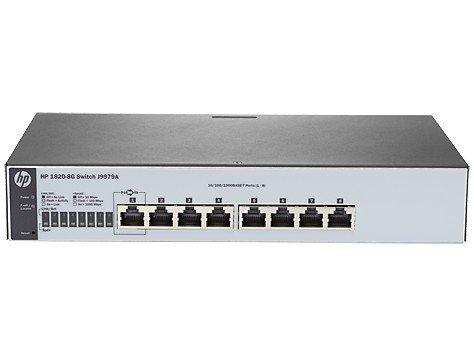 Hewlett Packard Enterprise 1820-8G Switch J9979A - Limited Lifetime Warranty