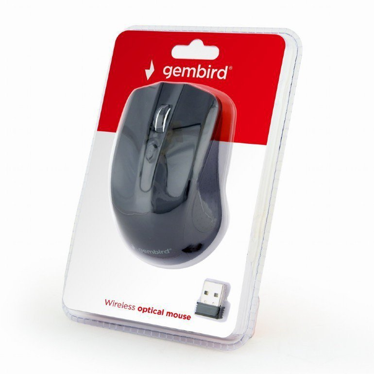 Gembird Bezprzewodowa mysz optyczna czarna