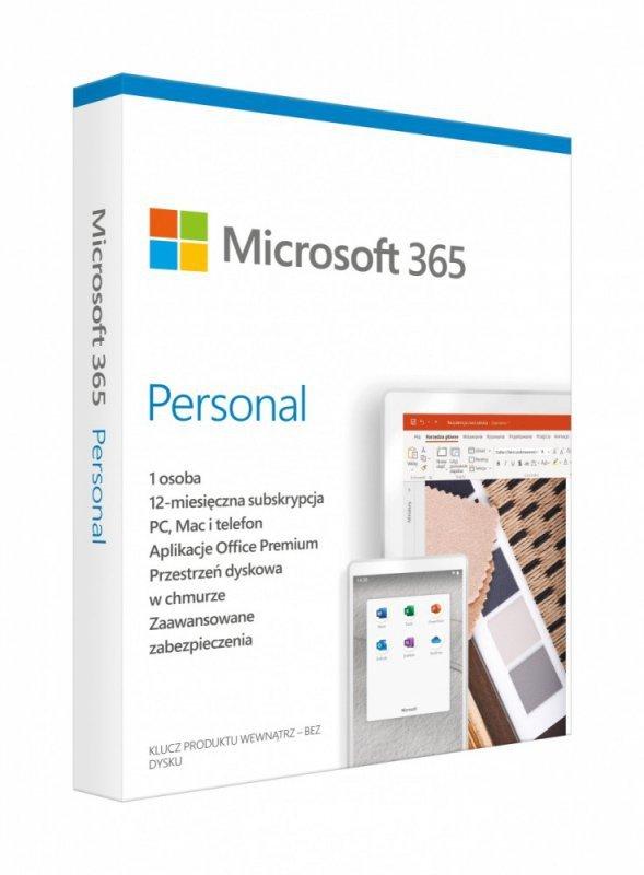 Microsoft 365 Personal PL P6 1Y 1U Win/Mac QQ2-01000 Stary P/N: QQ2-00735