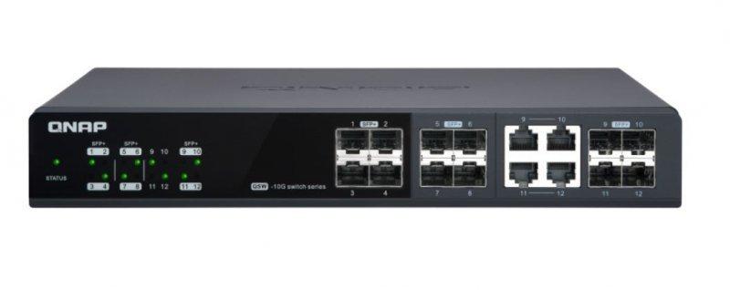 QNAP Przełącznik QSW-M1208-4C Switch 12 ports (8Combo+4)10GbE