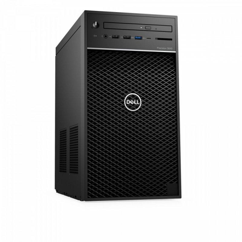 Dell Stacja robocza Precision T3640 MT i7-10700/16GB/256GB SSD M.2/1TB/Intel UHD/DVD RW/W10Pro/KB216/MS116/vPRO/3Y NBD
