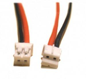 Wtyczka 2-pin PH biała z przewodem 22AWG 30,5cm