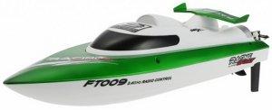 Motorówka FT009 2.4GHz RTR (długość 46cm, prędkość 30km/h, silnik klasy 540) - Zielona