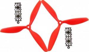 Komplet 2 śmigieł trzypłatowych (CW+CCW) 9x4.5 - czerwone