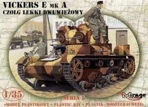 Vickers E Mk A Polski Czołg Dwuwieżowy - 1:35