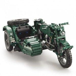Motocykl wojskowy - klocki CADA - zdalnie sterowany (629 klocków)