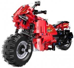 Motocykl - klocki CADA - zdalnie sterowany - POSERWISOWY (niekompletny zestaw)