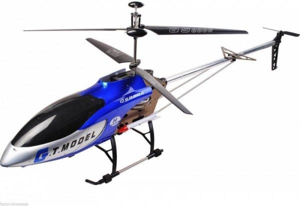 GT Helikopter QS8006 gigant (dł. 134cm, 3.5CH, żyroskop, zasięg do 80m) - Niebieski