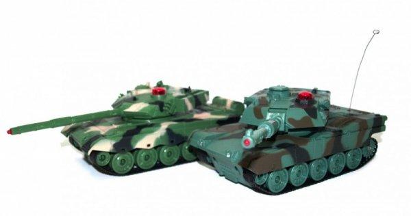 Para walczących czołgów American M1A2 i Chinese 96 1:32 27/40MHz - POSERWISOWY (1 sprawny czołg)