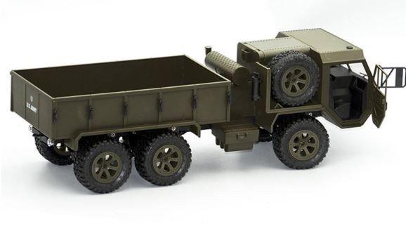 Ciężarówka wojskowa P801 1:16, 6x6, 2.4GHz, RTR - zielona