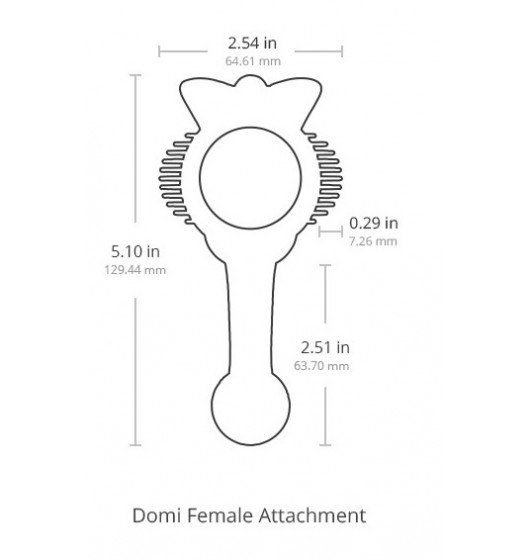 Nakładka na masażer - Lovense Domi Female Attachment