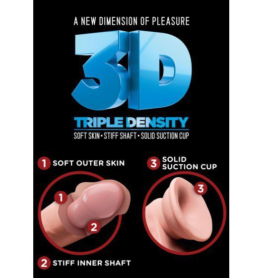 """King Cock Plus 8"""" Triple Density Cock with Balls"""