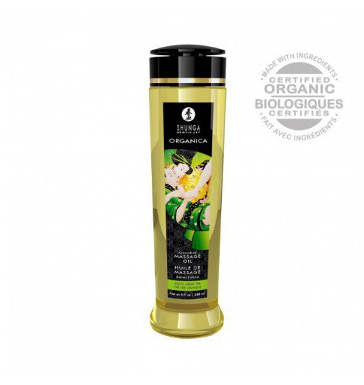Shunga Natural Massage Oil Organica Green Tea 240ml