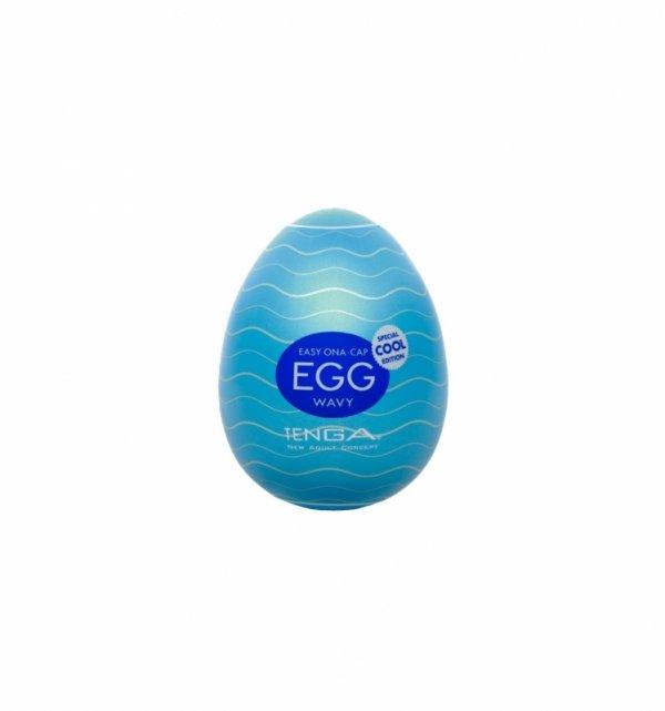 Dyskretny Masturbator - Tenga Egg - Wavy Cool