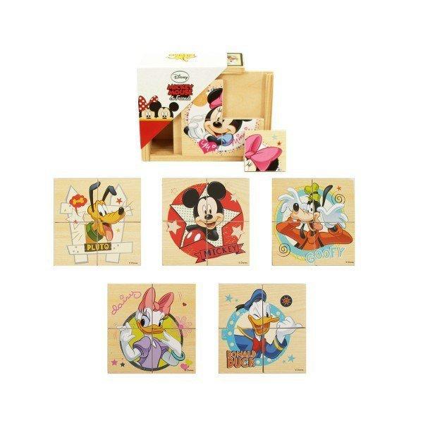 Drewniane Puzzle Minnie & Mickey
