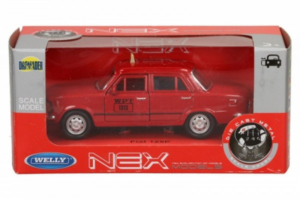 WELLY Fiat 125P Taxi 1/3 4