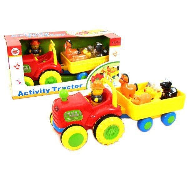 Traktor ze zwierzątkami i dźwiękiem