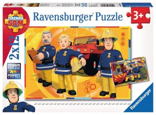 Puzzle 2x12 elementów - Strażak Sam