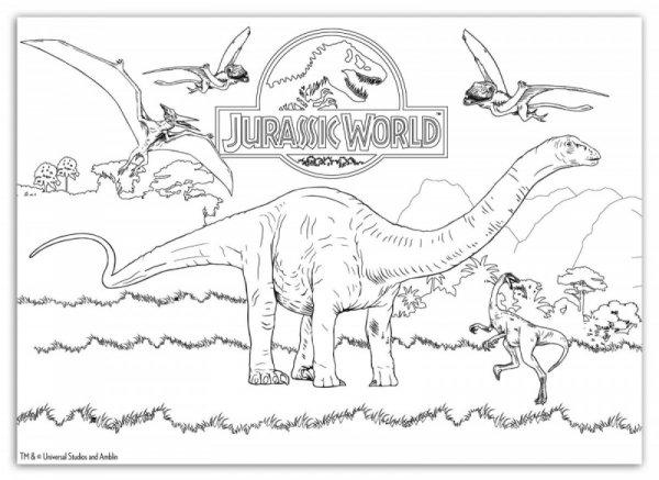 Puzzle dwustronne maxi 108 elementów - Jurassic Park