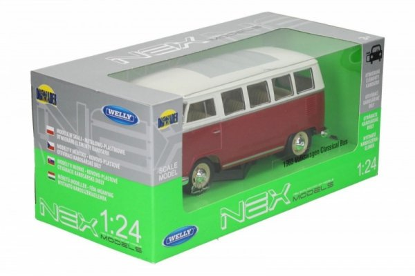 Volkswagen Classic Bus, czerwony