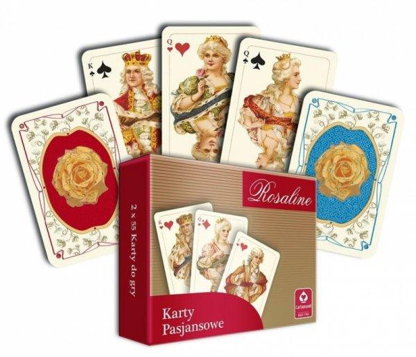 Karty pasjansowe Rosaline 2 x 55
