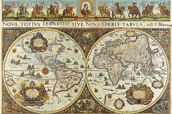 3000 ELEMENTÓW Wielka Mapa Świata 1665r