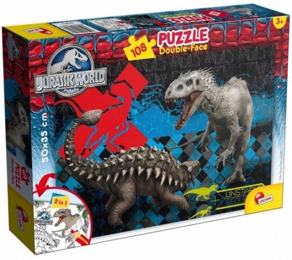 Puzzle dwustronne Jurassic Park 108 elementów