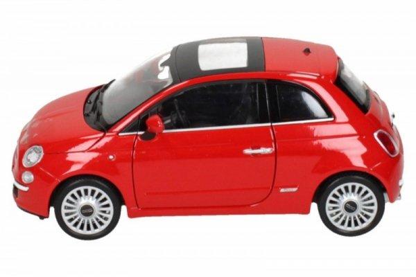 Fiat 500 2007, czerwony