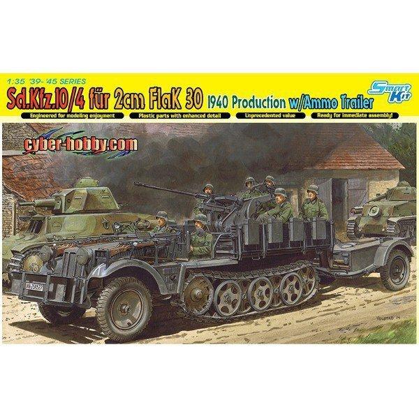 DRAGON Sd.Kfz. 10/4 fur 2cm flak 30 1940
