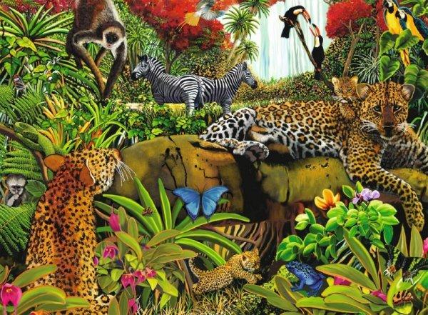 Puzzle 100 elementów XXL - Dzika Dżungla