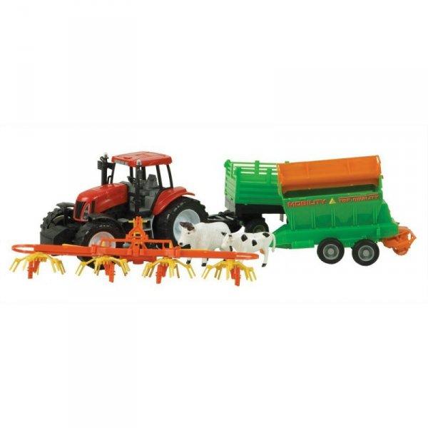 Traktor + 3 maszyny rolnicze