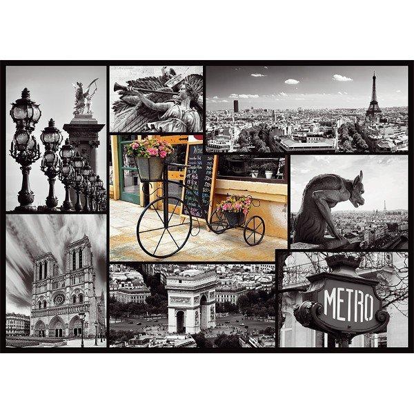 1000 elementów Paryż - kolaż