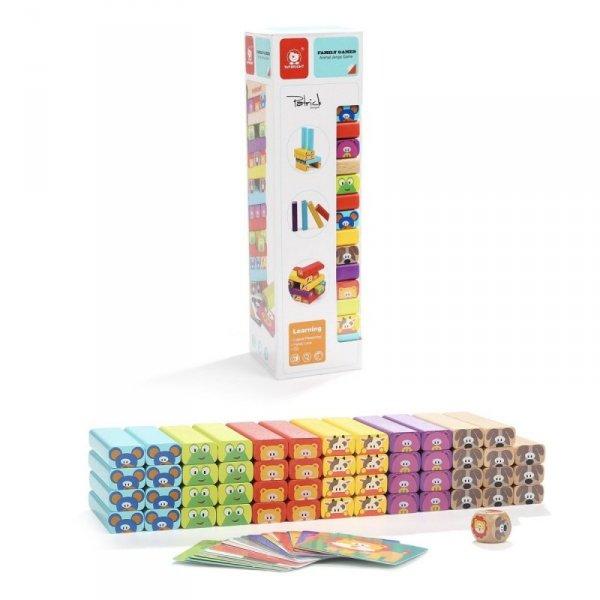 Gra Drewniana wieża ze zwierzętami