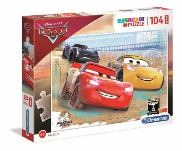 Puzzle 104 elementy Maxi Super Kolor Auta