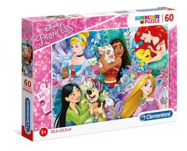 Puzzle 60 elementów Super Kolor Księżniczki Disneya
