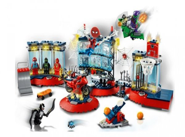Klocki Super Heroes 76175 Atak na kryjówkę Spider-Mana