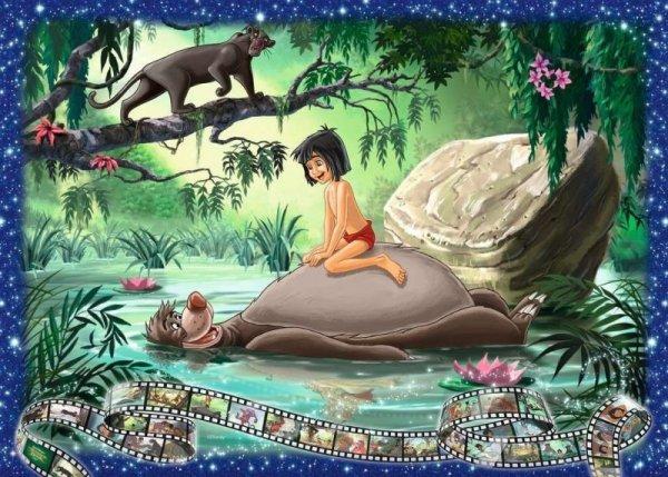 Puzzle 1000 elementów Walt Disney Księga Dżungli