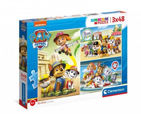 Puzzle 3x48 elementów Psi Patrol