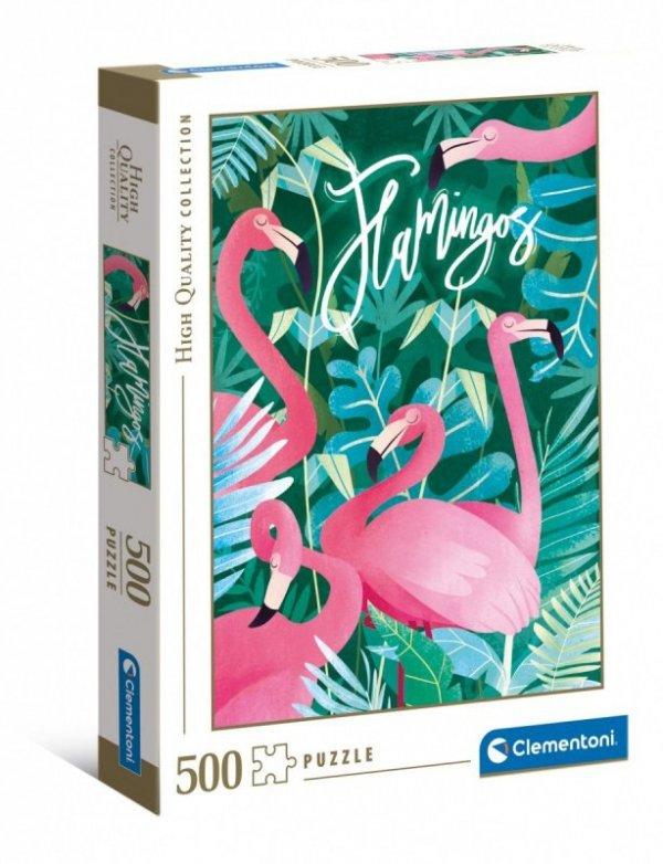 Puzzle 500 elementów Fantastic Animals Flamingi