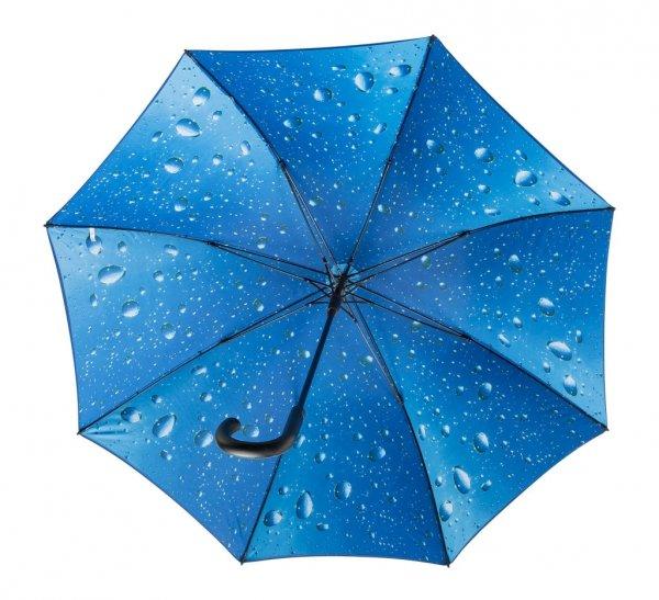 Krople kropelki deszcz - CZARNY parasol Ø120 cm