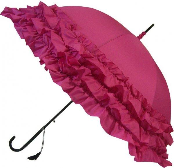 Trzy falbany różowy parasol Boutique Frill