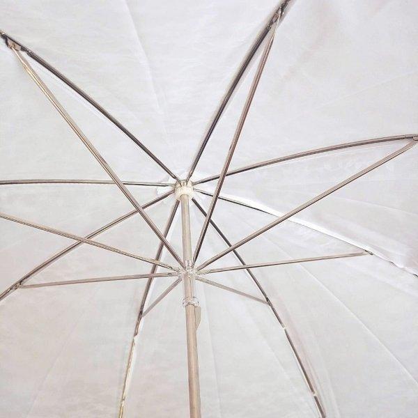 Retro Romantic długa biała parasolka z koronką