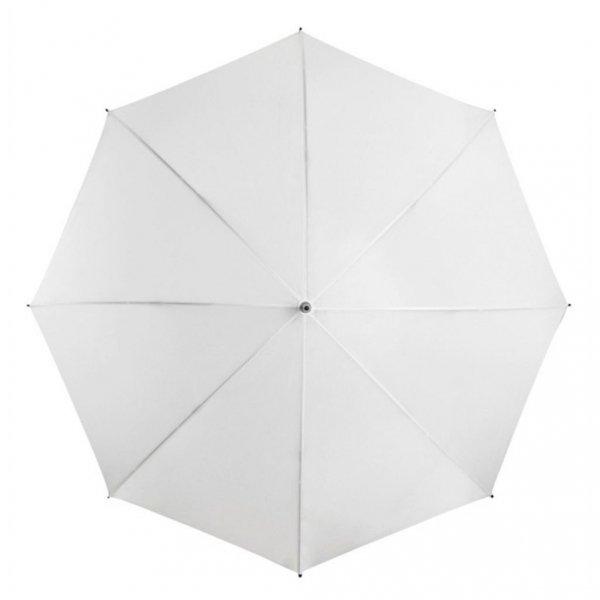 Biały parasol golfowy 125 cm manualny